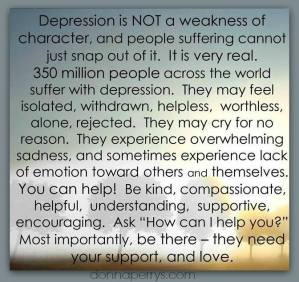 how to help someone dealing with depression